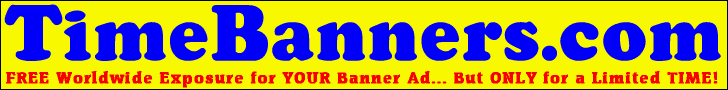 Time Banners = Free Worldwide Promotion - For a Limited Time